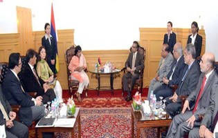 The President of the Republic of Mauritius meets with the Private Sector of Pakistan