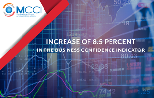 Increase of 8.5 percent in the Business Confidence Indicator