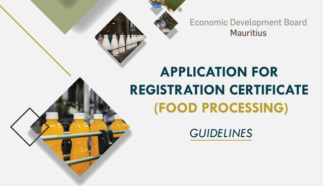 Introduction of a Registration Certificate for Food Processing Activities