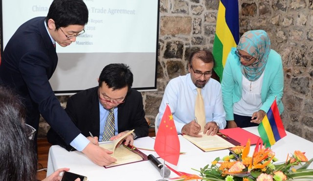 First Round of Discussions on the Mauritius-China FTA