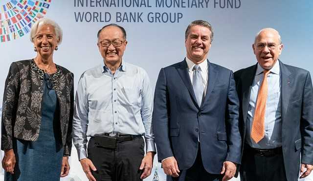 WTO, IMF, World Bank and OECD heads call for new focus on trade as a driver of growth