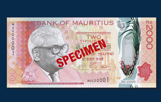 The Bank of Mauritius issues new Rs. 2,000 denomination bank notes