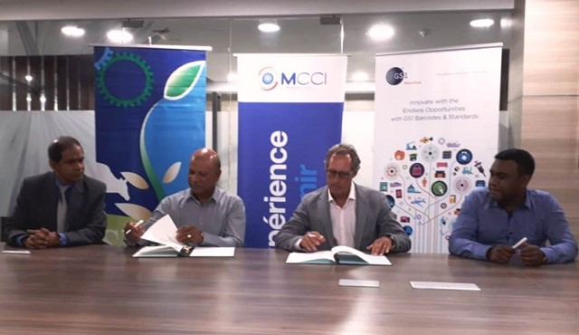 GS1(MAURITIUS) LTD and Small Farmers Welfare Fund signed an MoU for small agro-processors to acquire GS1 Barcodes