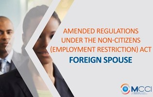 Employment of non-citizens (spouses) - non-citizens who were working prior to the 8th March 2019 will continue to be exempted