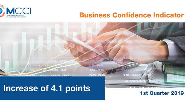 Increase of 4.1 points in the Business Confidence Indicator in the first quarter of 2019
