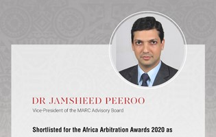 Vice-President of the MARC Advisory Board shortlisted for the Africa Arbitration Awards 2020
