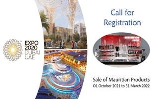 Expo Dubai 2020-Call for Registration for sale of Mauritian products