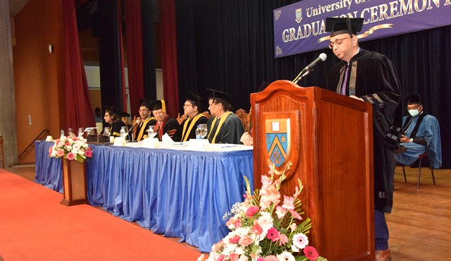 UOM: Dr Yousouf Ismaël Guest Speaker at the Graduation ceremony
